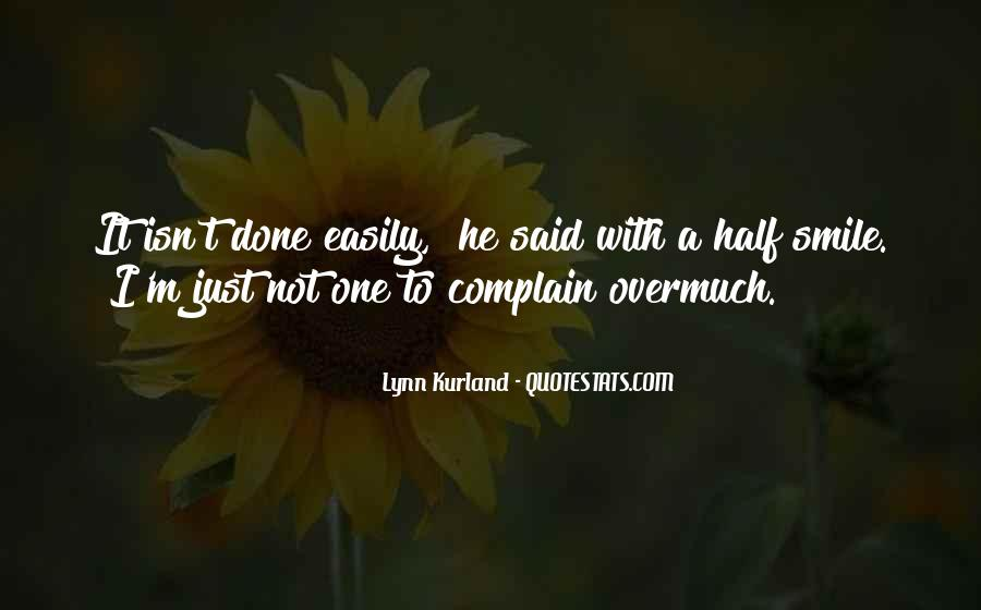 Quotes About Half Smile #73173