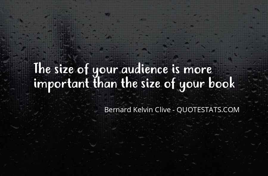 Size Quotes And Sayings #1184972