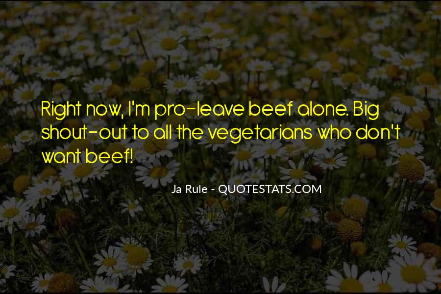 Quotes About Vegetarians #1678039