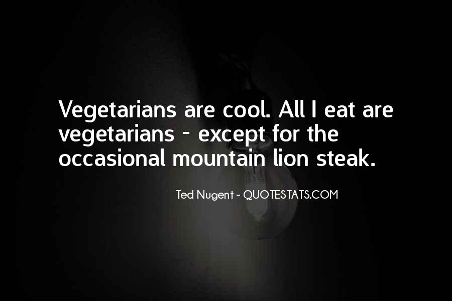 Quotes About Vegetarians #999588