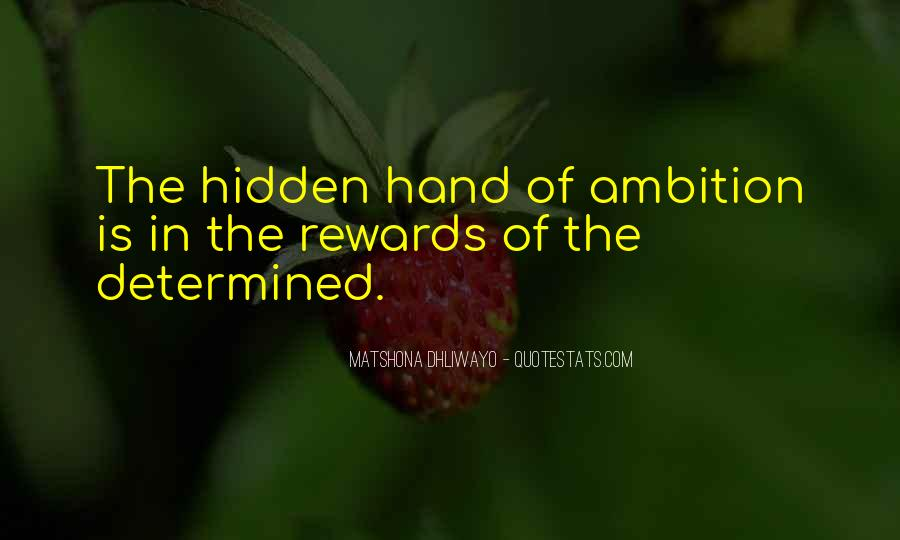 Ambition Quotes And Sayings #1273458