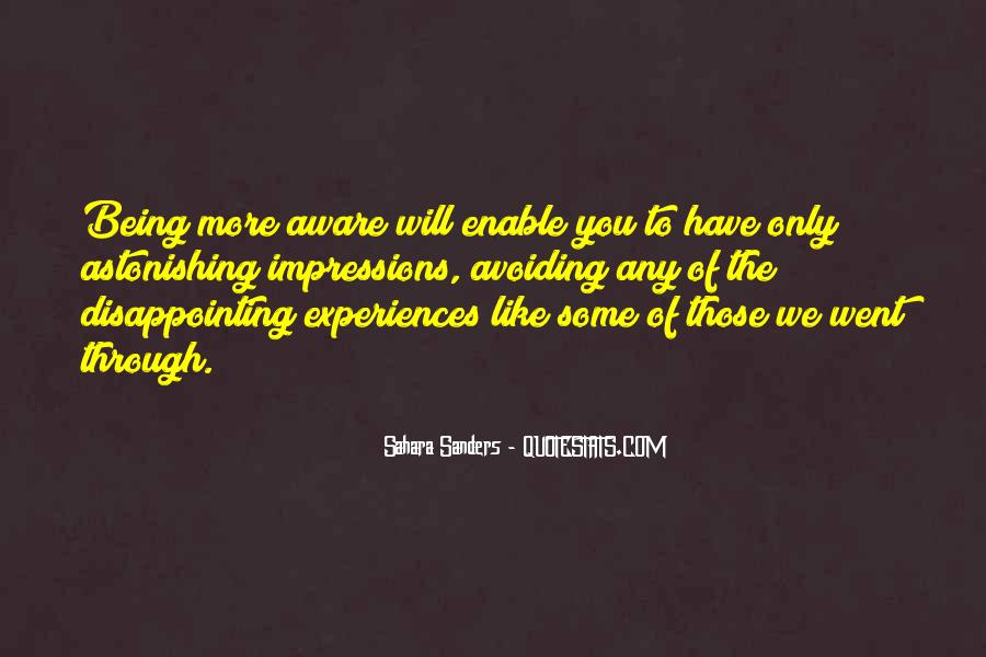 Aware Quotes Sayings #5420