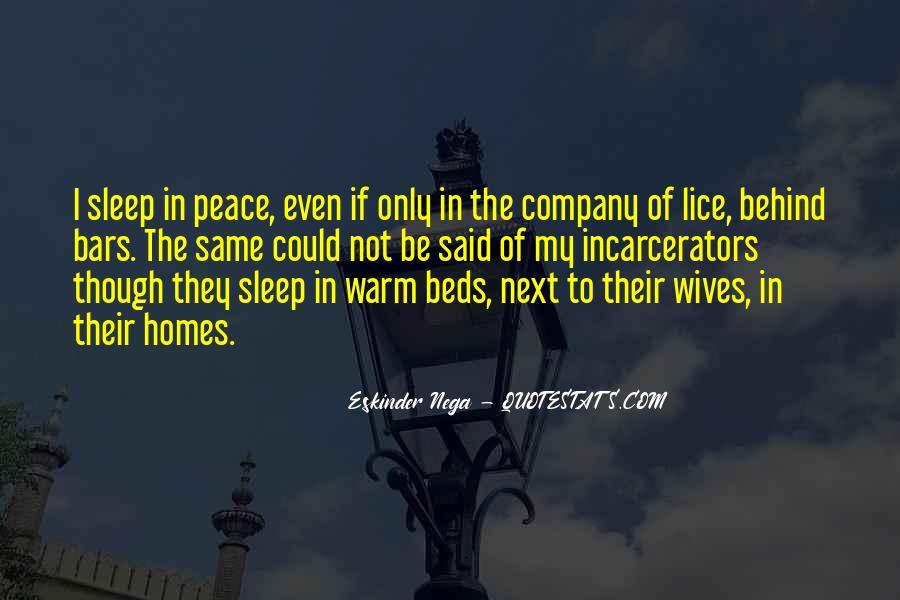 Quotes About Warm Beds #581418
