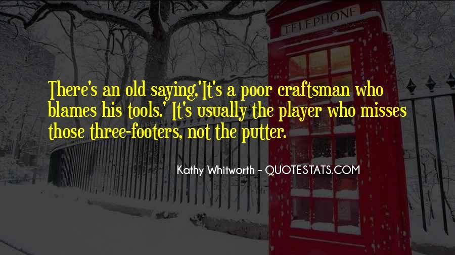 Golf Putter Sayings #214777