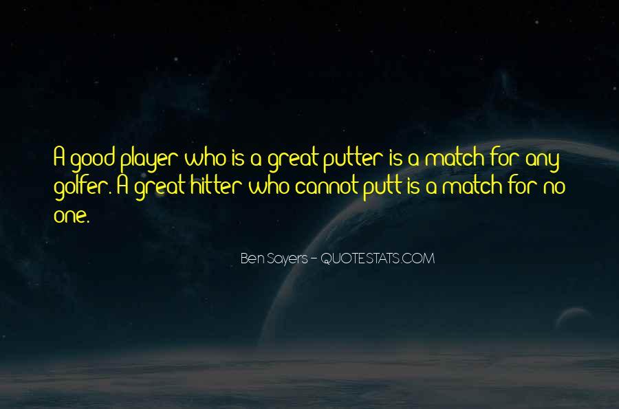 Golf Putter Sayings #449363