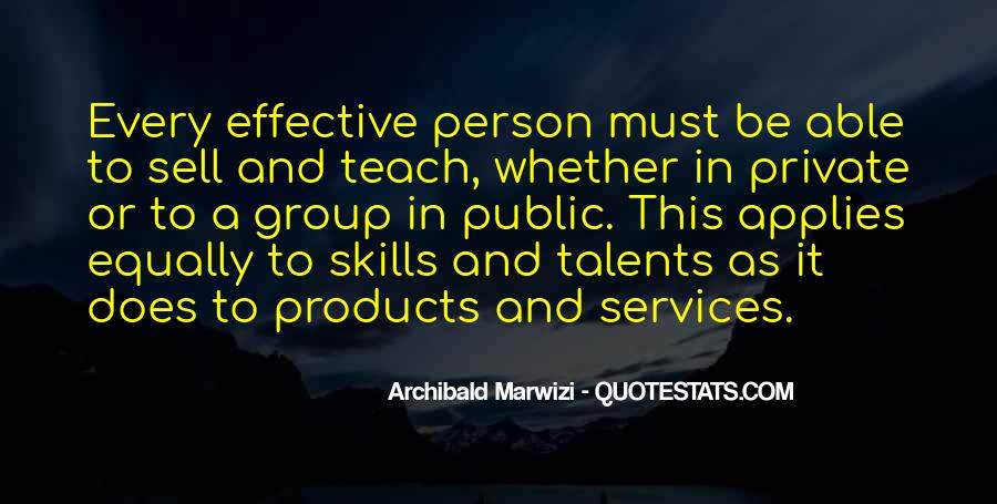 Skills Quotes And Sayings #1292381
