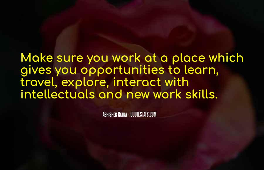 Skills Quotes And Sayings #470319