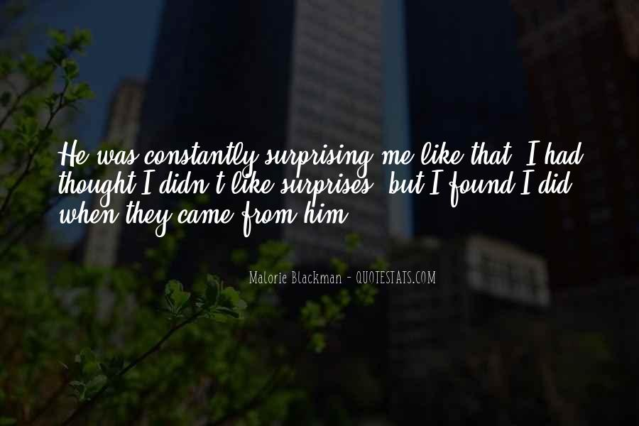 I Love Surprises Sayings #555190