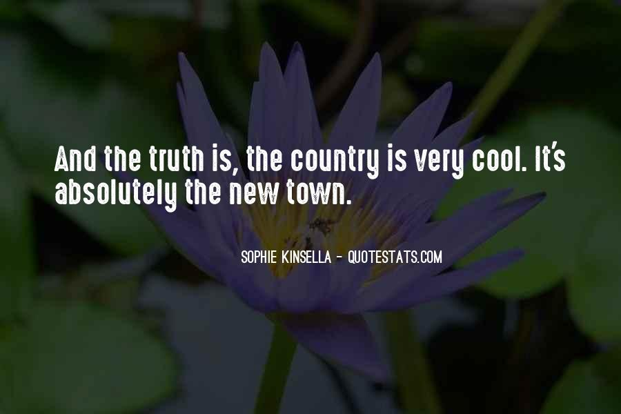 Country Town Sayings #217848