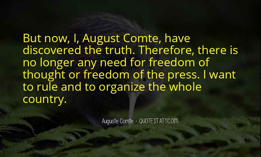 Auguste Comte Sayings #1553672