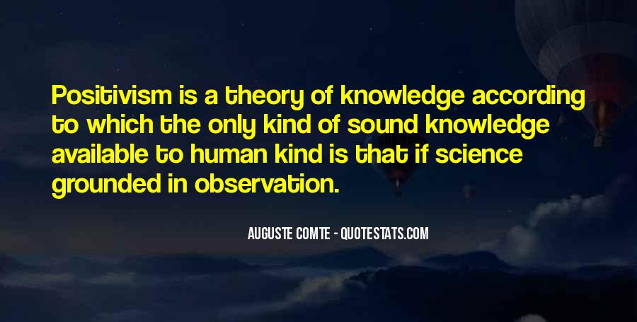 Auguste Comte Sayings #273146