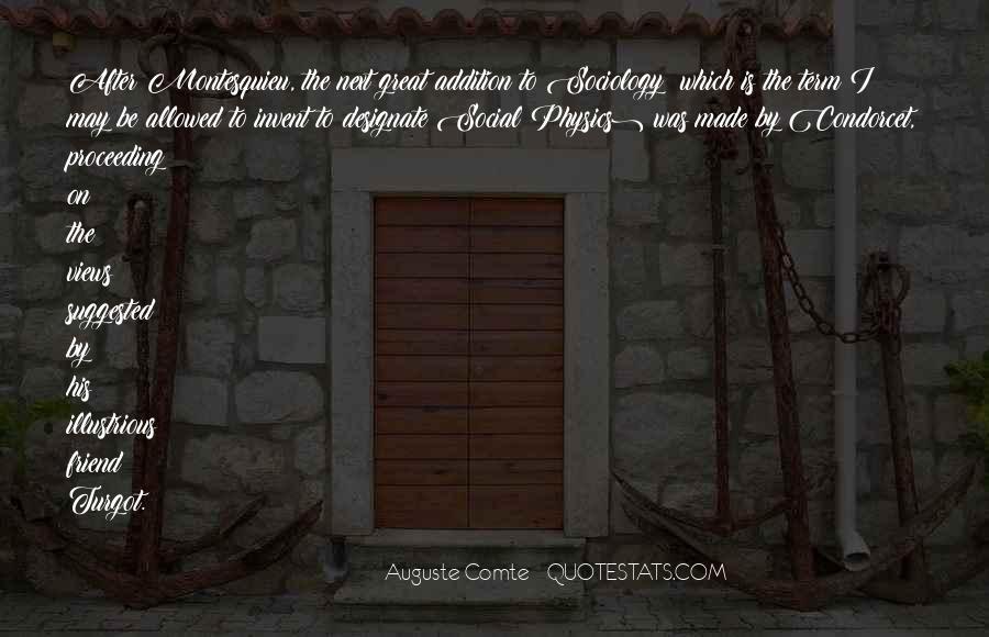Auguste Comte Sayings #883051