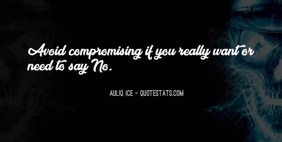 Compromising Quotes Sayings #674108