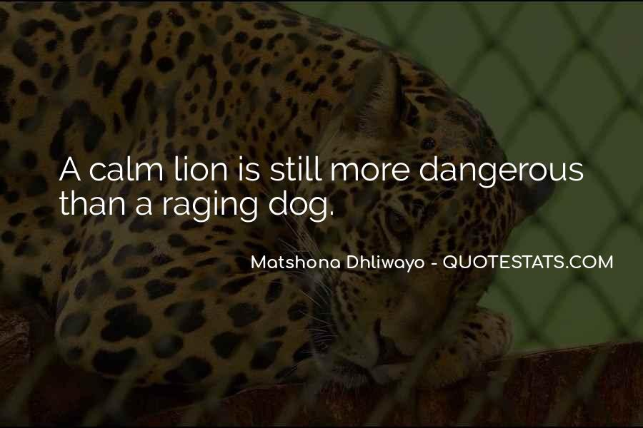 Dangerous Quotes And Sayings #1163351