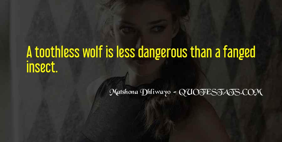 Dangerous Quotes And Sayings #1653884