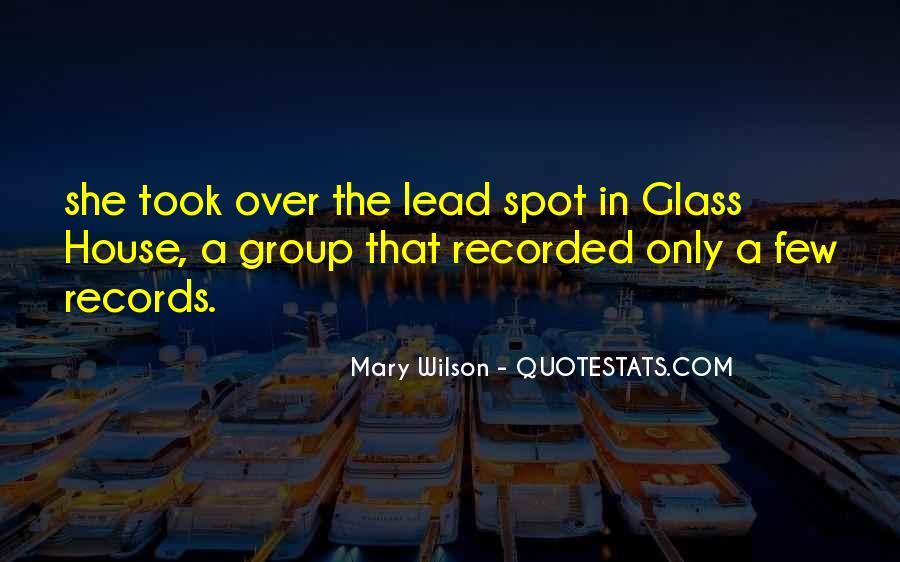 Glass House Sayings #747776