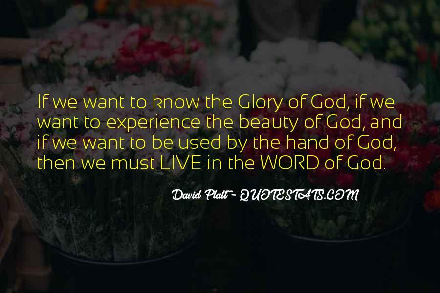 Hand Of God Sayings #105976