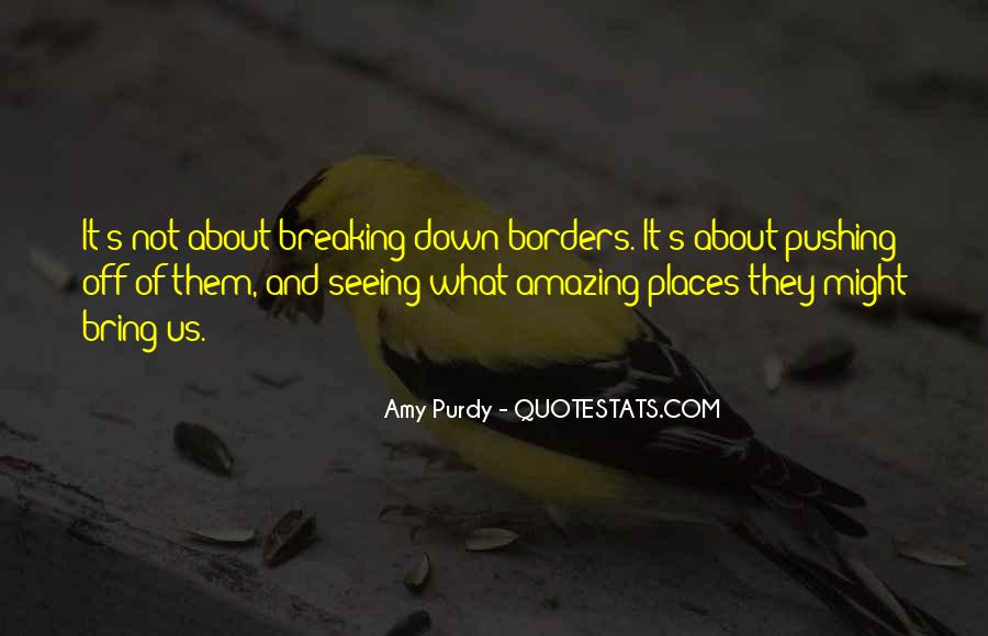 Quotes About Breaking Borders #1736548
