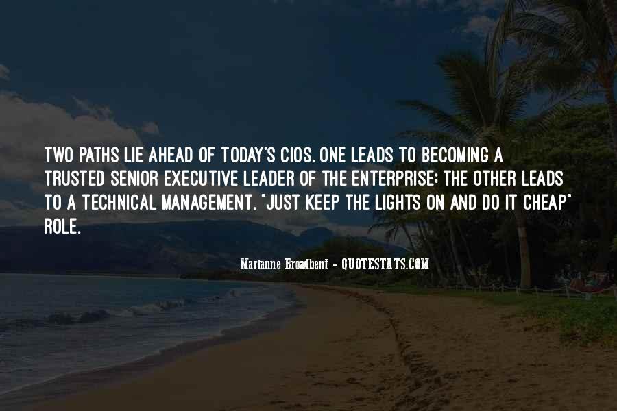 Management Leader Sayings #1133500
