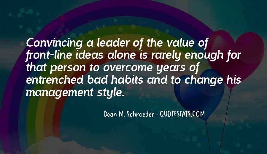 Management Leader Sayings #1194848