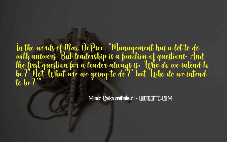 Management Leader Sayings #1412913
