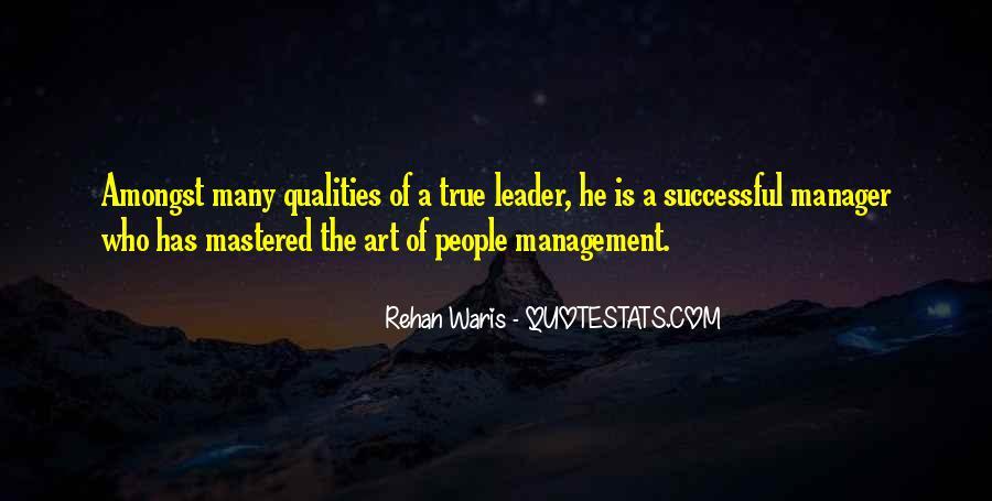 Management Leader Sayings #1522913
