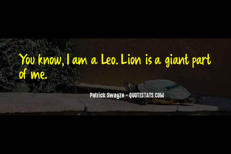 Quotes About Leo The Lion #1741062
