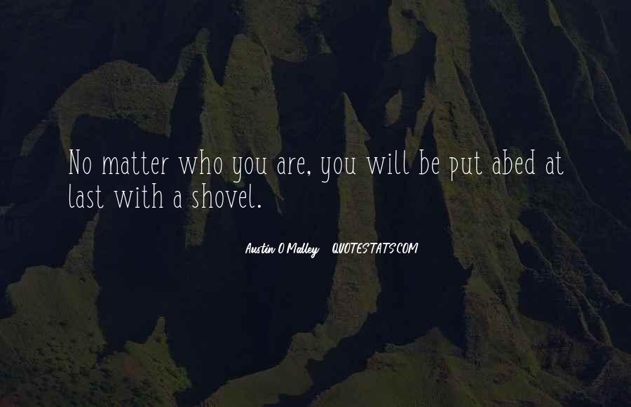 Quotes About Shovels #374324