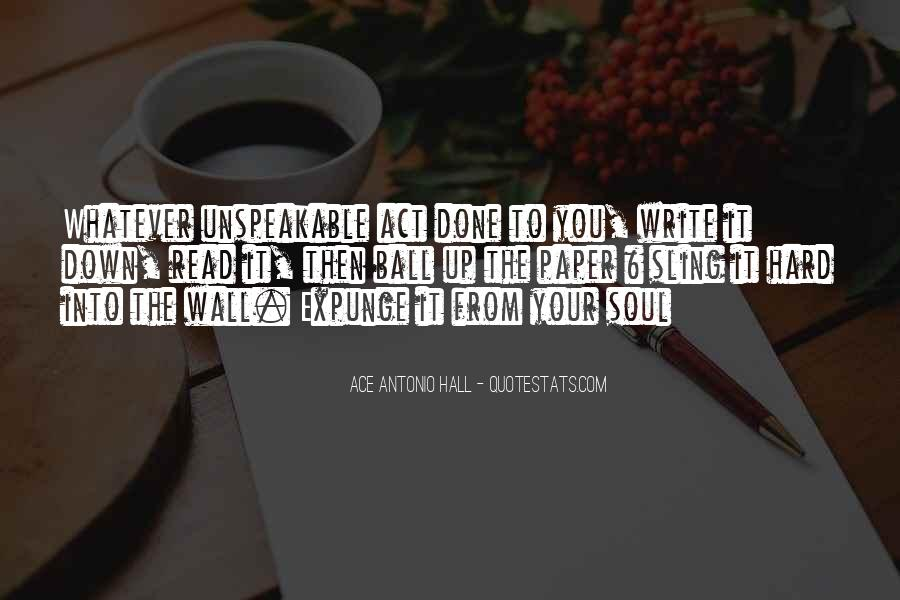 Paper Quotes And Sayings #1278774