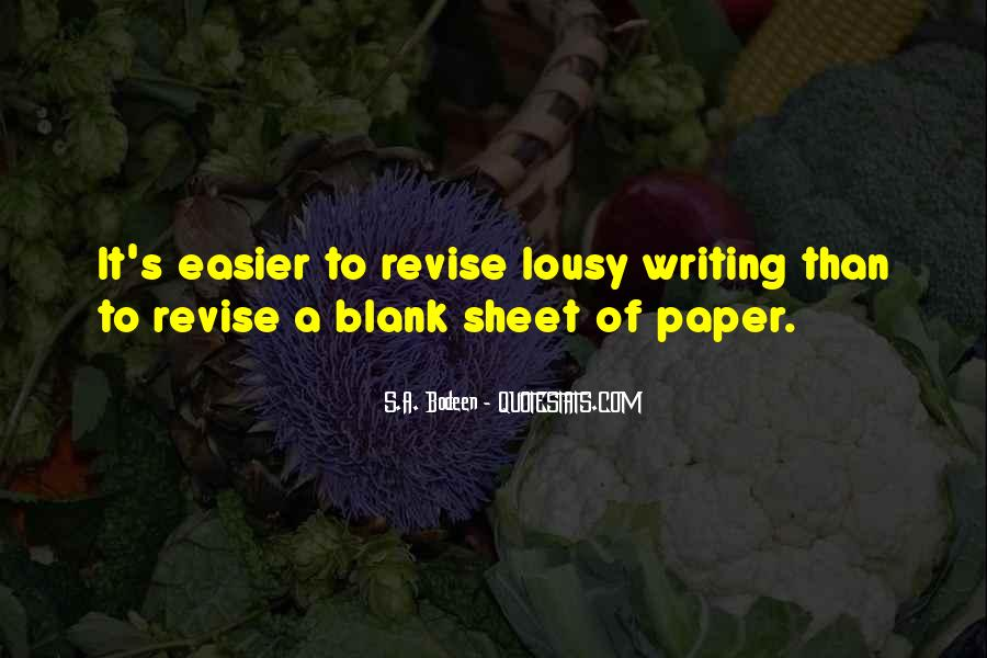 Paper Quotes And Sayings #223135