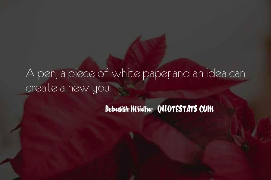 Paper Quotes And Sayings #496508