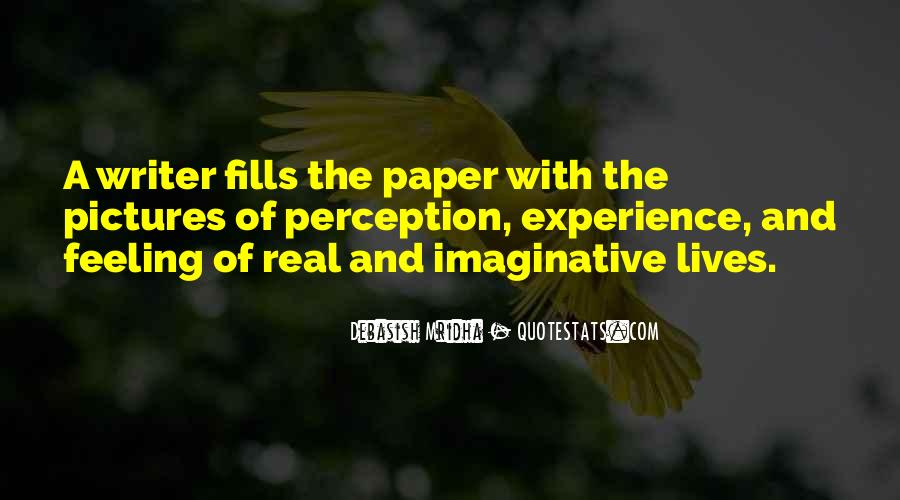 Paper Quotes And Sayings #504361