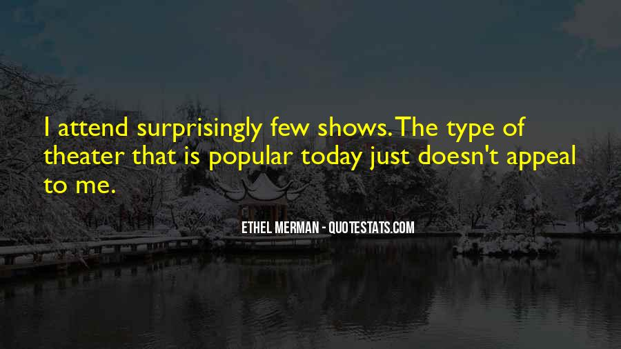 Popular Theater Sayings #1027529