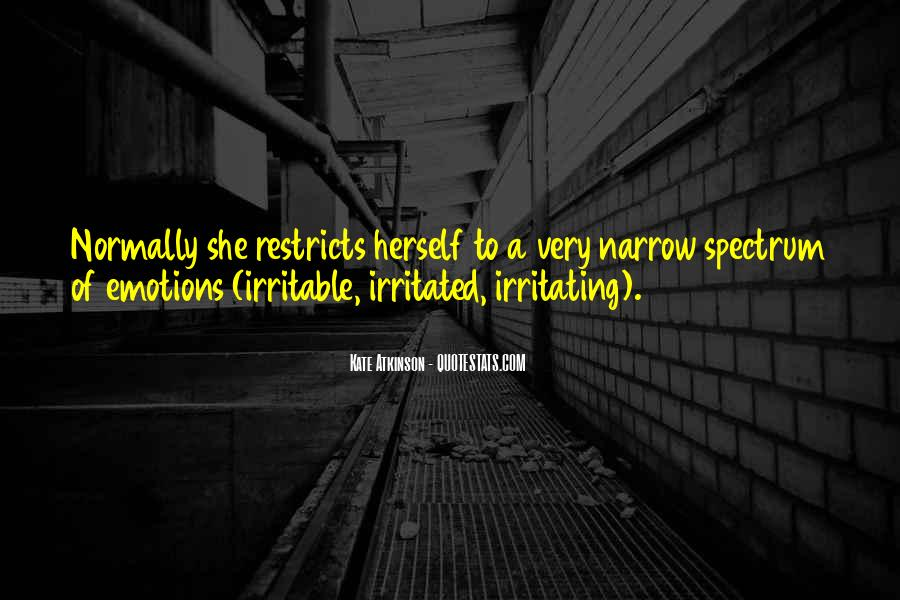Quotes About Irritable #697293