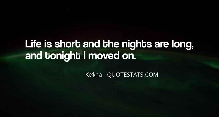 Quotes About Short Tonight #1320729