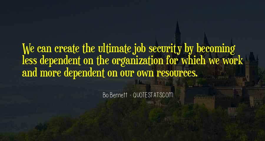 Quotes About Job Security #924435