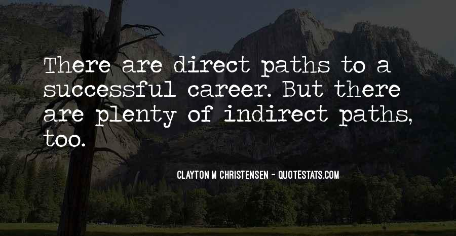 Quotes About Career Paths #159417