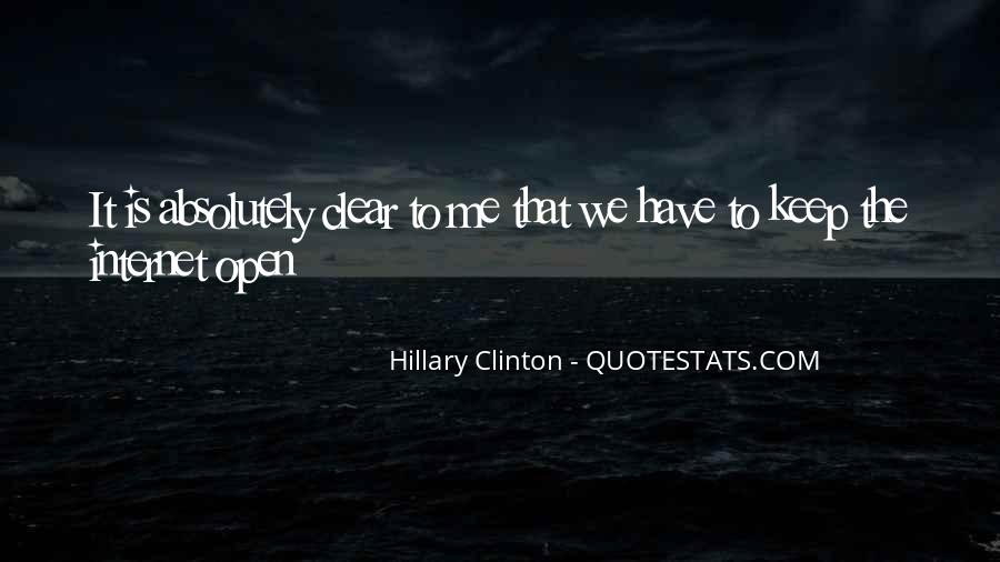 Quotes About Clinton #9132