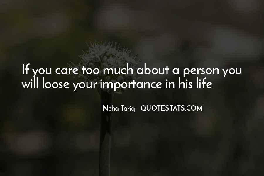 Quotes About The Importance Of Life Lessons #145370