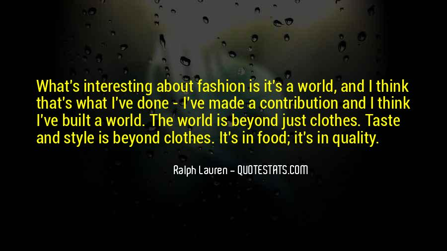 Quotes About Fashion And Style #1035556