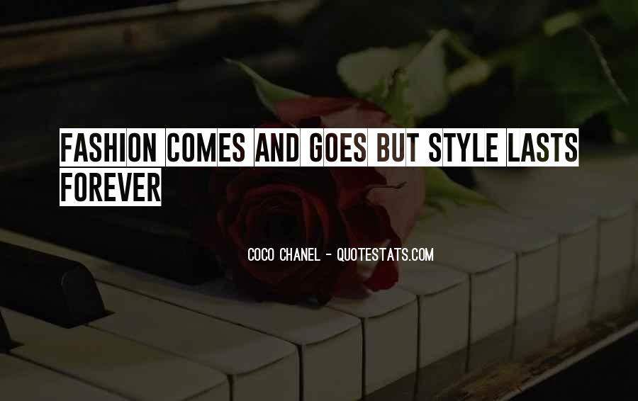 Quotes About Fashion And Style #251467