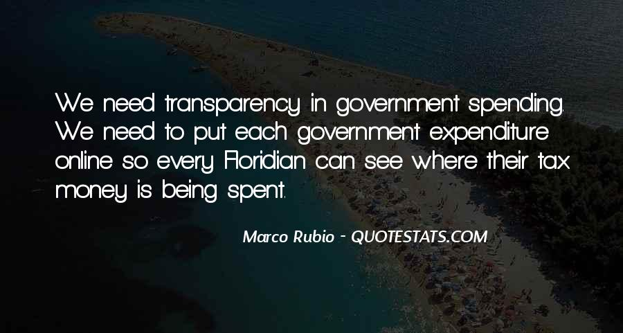 Quotes About Government Spending #484108