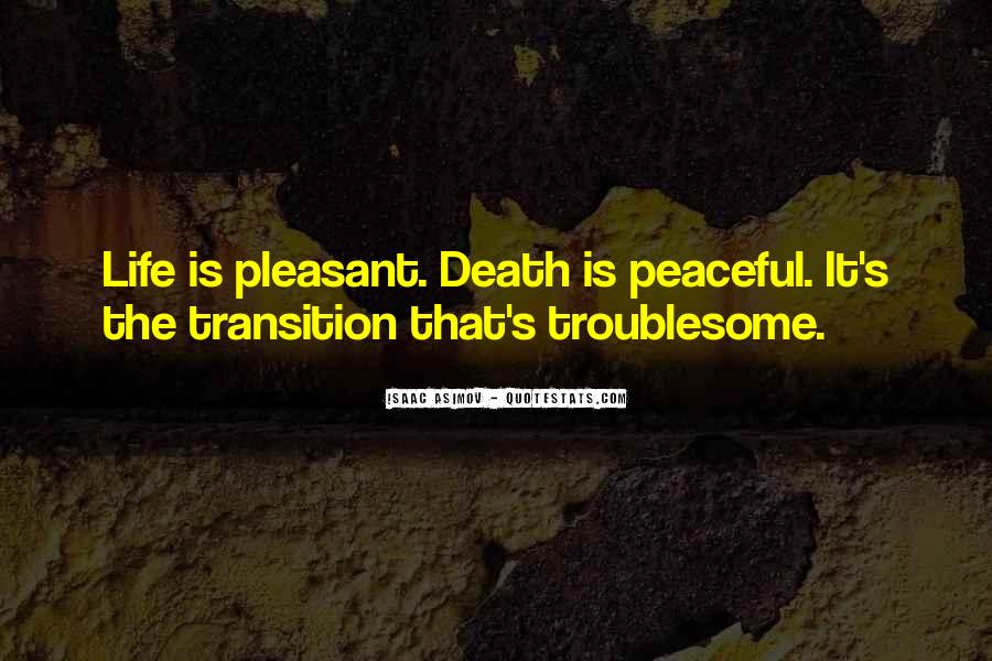Quotes About Peaceful Death #1371483