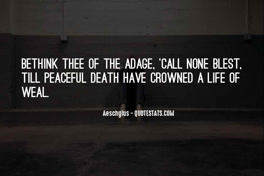 Quotes About Peaceful Death #1460852