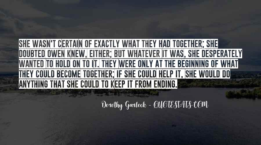 Quotes About Ending Up Together #622790