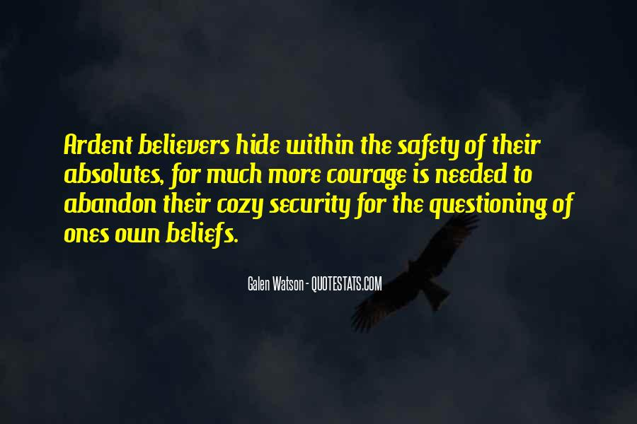 Quotes About Questioning Your Beliefs #495547