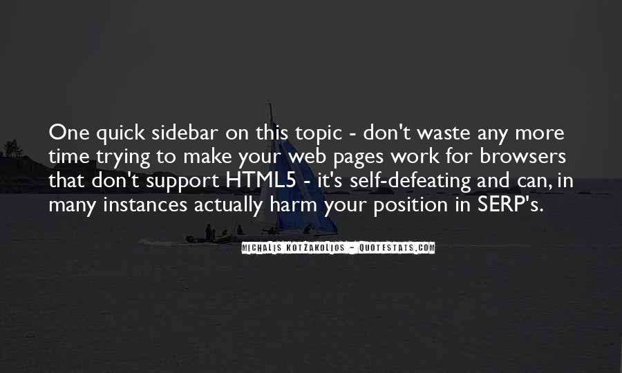 Quotes About Web Pages #1775285