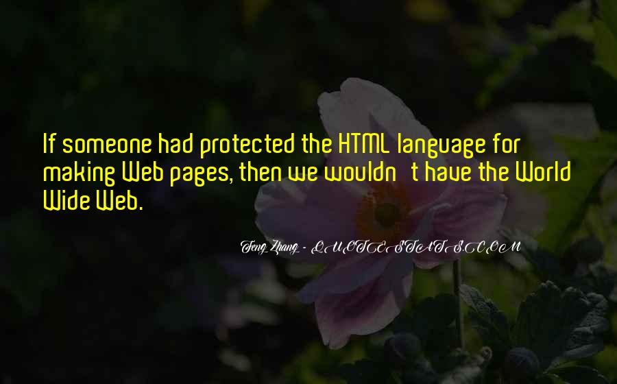 Quotes About Web Pages #372348
