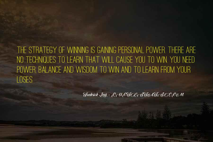 Quotes About Gaining Power #289899