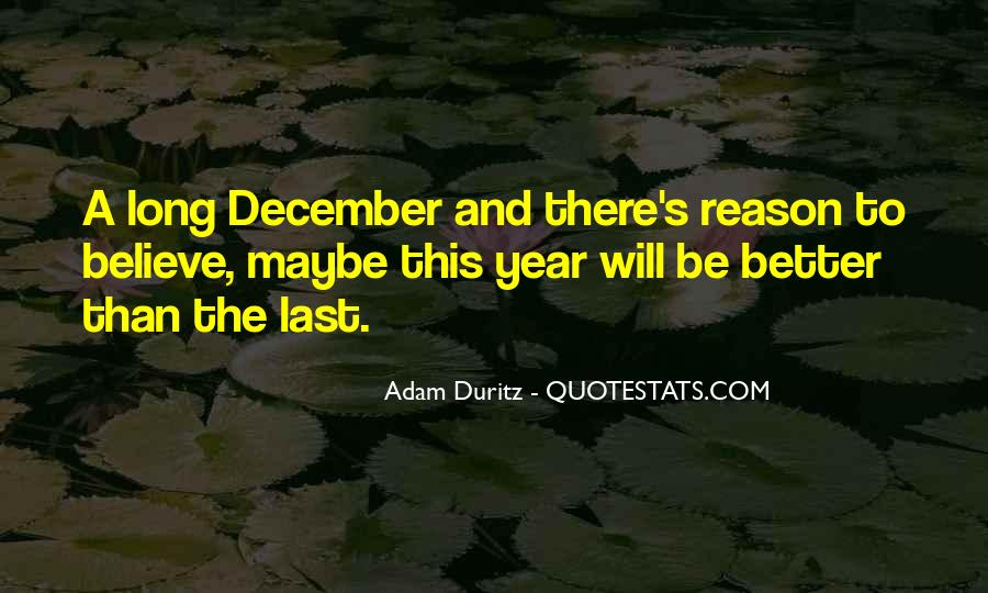 Quotes About December #190748